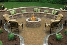Fire Pit Design / Love a nice warm fire surrounded by friends, family and some cold beverages :) / by Karen Syverson