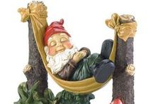 Gnomes ~ My New Obsession / My husband thinks gnomes are creepy, maybe that's why they intrigue me so much.  I think they're cute and I can't wait to start my gnome garden / by Karen Syverson