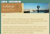 Melange Travel [newsletters] / Melange Travel monthly newsletter with Italy and France travel tips, recipes, helpful free resources for planning your trip