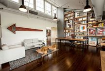 Industrial Office Spaces / I love the industrial look - renting a warehouse would be an awesome way to get a lot of light