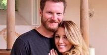 """Ralph Dale Earnhardt Jr & Amy Reimann Earnhardt / Today's Headline: Dale Earnhardt Jr ask Amy if she have him for the rest of his life. June 17, 2015.  Amy says Yes. Yea.... Herzlichen Glückwunsch!"""" Tweeted Dale's sister, Kelley Earnhardt"""