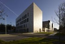 University of Modena, Scientific Departments / A new building on the University of Modena UNIMORE campus housing the Chemistry, Pharmaceutical and Earth Science teaching activities and laboratories. Completed 2014.