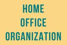 Home Office Organization / Home office space organization, tips, ideas, products