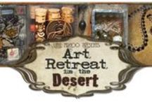 Art Retreat in the Desert - Winter 2014 / Come join us for fun in the desert of Tucson, Arizona as we create beautiful and fun mixed media and jewelry! Held during the Tucson Bead and Gem Show in February, you can shop for one-of-a-kind jewelry and craft findings and learn new tips and techniques along the way! / by Barb Solem