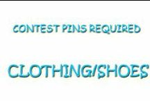 Contest Pins Required CLOTHING/SHOES / by Janet Lee