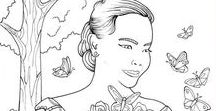 Beautiful Women Coloring Pages