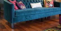 Blue Sofas / The Sofa Company loves to make blue sofas for your home or office. Check us out today at www.thesofaco.com