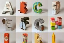 A B C, 1 2 3  Art & Designs / Creative uses of letters and numbers