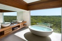 Dream Hotel Bathrooms / Looking for an excuse to linger a little longer in the bath or shower? Immerse yourself in beauty of these intimate spaces... Travel, Lifestyle, Luxury - Andrew Forbes, Writer and Consultant www.andrewforbes.com #luxurytravelpursuits #luxestyletravel