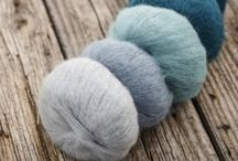 Cumulus / 164 yards of Light Fingering Weight 74% Baby Suri Alpaca and 26% Silk. Available in rich jewel tones and softer tones that suit it's cloud like structure.