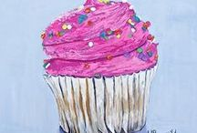 """My """"Mouth Watering Series"""" / Paintings from my """"Mouth Watering Series"""""""