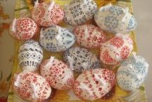 Easter Eggs / All these Easter eggs are decorated by the technique Madeira.