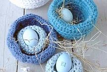 Easter Decorating Ideas to Knit / This spring, whip up some of these Easter knitting patterns. Browse charming Easter decorating ideas like knit bunnies, knitted Easter eggs, and more.  / by AllFreeKnitting
