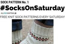 #SocksOnSaturday / Every Saturday, I'll be featuring a sock pattern that you can knit! Easy sock knitting patterns to more challenging patterns - they're all here!