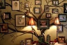 Decor: Family photos wall / by Loring Hammond