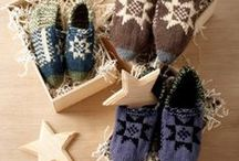 Cozy Knit Slipper Pattern Ideas / Slip your feet into any one of these delightfully cozy knit slipper pattern ideas.  / by AllFreeKnitting