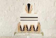 Art Deco Cakes / Amazing art deco cakes: vintage-inspired, 1920s themed, gorgeous simplicity and over-the-top Gatsby style cakes, cookies, cupcakes and pies! (OK no pies yet. Someone make an art deco pie!)