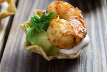 Edibles - Pescetarian / seafood diet, vegetarian plus seafood, appetizers for pescetarians, meals for pescetarians, a few meat-lovers things in here.  / by Nikki Evans