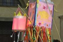 """Rificolone - Paper Lanterns / Idee per costruire una rificolona, lanterna di carta per la tradizionale Festa della Rificolona di Firenze.   Ideas to create a """"rificolona"""", a special paper lantern used for the traditional Festival of Rificolona in September in Florence, Italy."""
