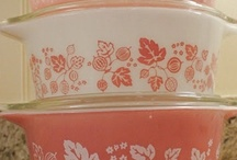 Very Pretty Vintage Pyrex / I have some of my grandma and mom's Vintage Pyrex in turquoise and olive green.  Would love to add to my collection!  Love the gooseberry pink and tangerine!