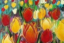 Colourful tulips / by Joke van Dijk