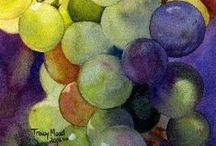 Grapes and wine / by Joke van Dijk