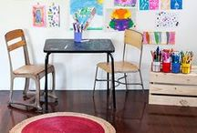 Art Areas for Kids / {Here You'll Find: kids + art + space + home + children + creativity + room + playroom}  Kids, like adults, love having a space to call their own. Here are some of our favorite creative spaces for children.