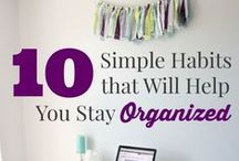 CLEAN: Organizing / by Crazy Daze Designs