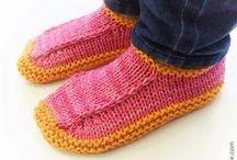 knit: socks: slippers / by MayMay
