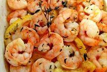 Receitas & Recipes - Camarão & Shrimp & Crevettes / Receitas