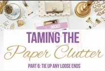 CLEAN: Paper Clutter Solutions / by Crazy Daze Designs