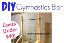 Gymnastics Bars / How to make your own gymnastics bar. DIY Do It Yourself backyard gymnast equipment on a budget / by Wendy | GimmieFreebies