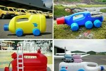 manualidades  con fran / materiales de desecho ( medios de transporte)