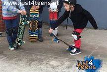 Festa just4skates / Uma festa sobre rodas! just4skates – festa com skates, jogos e outras diversões. #festas #skates #party #just4teens