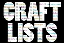 crafts | lists + compilations