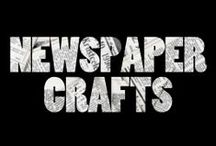 crafts | newspaper upcycling