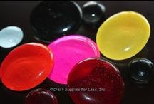Glass Gem Ideas / Bubble Magnets, Glass Gem Jewelry, Gem Necklaces, Colored Glass Gems, & Supplies! / by Craft Supplies for Less, Inspire-Create