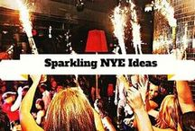 Sparkling NYE Party Ideas / What better way to bring in the New Years than with fireworks and all things that sparkle. This board is dedicated to making your NYE party sparkle and making a night to remember forever. / by Wedding Sparklers USA