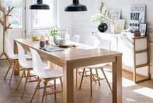 Decor ~ Kitchen and Dining / Ideas for our small and dark kitchen. Needs light, fresshness and a table to entertain 4-8 people.