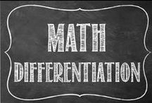 Math Differentiation / Great ideas and products for differentiation in the secondary math classroom