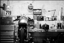 Motorcycles: Garage / The perfect place to park your(s) motorbike(s) / by Up-her.com