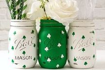 """St. Paddy's Day Ideas / Shamrock Crafts, Hair Clips, Magnets, Pins, Snacks, and lots of """"green"""" stuff! / by Craft Supplies for Less, Inspire-Create"""
