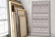 Mes Mots Déco, album des collections mesmotsdeco.com / Citations, Home Rules, To Do List, poster, tableau de mots, les règles de la maison