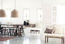 H O T E L _ D E C O R / Bloomingville has delivered loads of interiors to this gorgeous hotel in Greece. San Giorgio Hote, Mykonos / by Betina Stampe