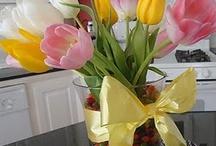 Easter / Spring decorating ideas & recipes for Easter brunch