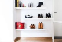 Organinzing the Small Spaces / Don't forget that when you live a busy life, its best not to have cluttered spaces, from the desk to the shoes at the door. Here is my take on some in home organizers, kits, shelving and decor items to help fix up and save the space. / by ELM