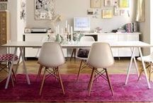 Pink rugs / A pink rug can transform your space by bringing warmth and character to every room. Is your home 'pretty in pink'? Add a pink rug to accent or soften an existing colour scheme. Take a look at the beautiful interiors with pink rugs!