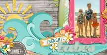 Scrapbooking - Beach & Summer / Layouts with a summer or beach/vacation theme