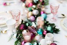Christmas // Holiday Decorations / Christmas time! Decoration ideas, pretty trees, table settings and more.