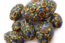 Vintage Millefiori Beads